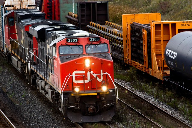 Alors que les dirigeants du Canadien National célébraient le 20eanniversaire... (PhotoBrent Lewin, Archives Bloomberg)