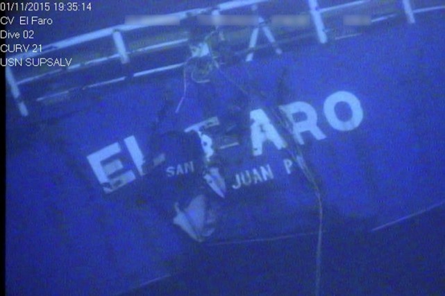 El Faro, un vieux roulier de 41 ans... (PHOTO REUTERS)