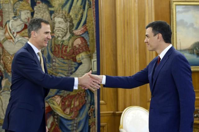 Le roi d'EspagneFelipe VI a rencontré mardi au... (PHOTO AP)