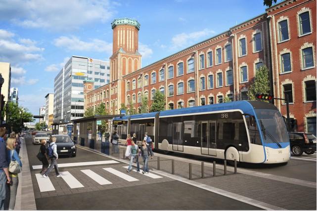 Maquette du futurservice rapide par bus (SRB)... (Image fournie par la Ville de Québec)