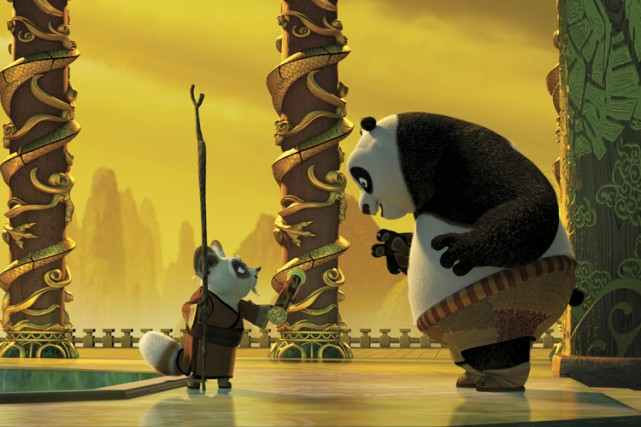 Une scène de Kung Fu Panda (2008).... (PHOTO DREAMWORKS)