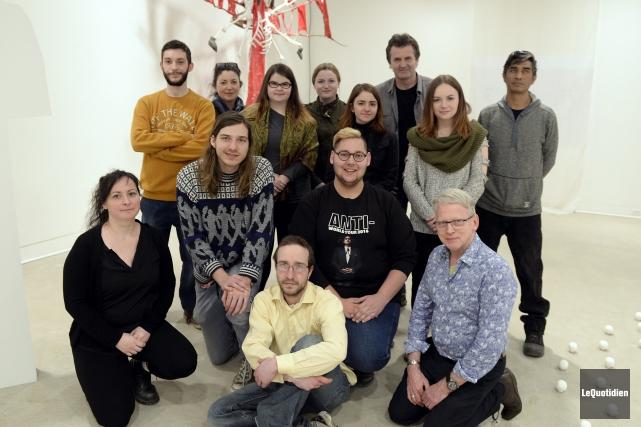 Voici les étudiants de l'UQAC qui ont produit... (Photo Le Quotidien, Jeannot Lévesque)