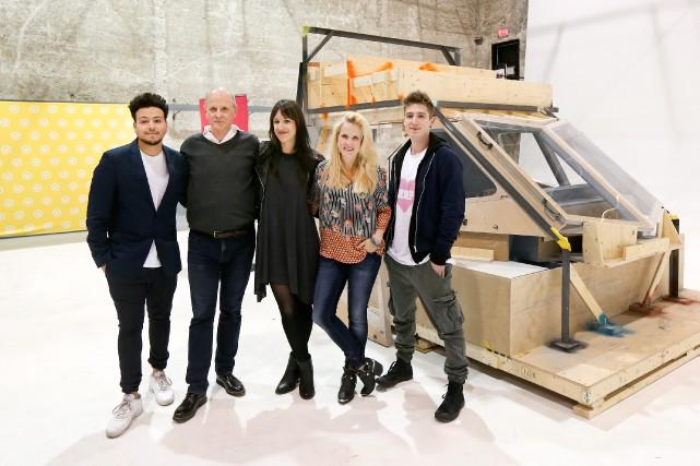 Les cinq comédiens principauxde la nouvelle émission de... (PHOTO ROBERT SKINNER, LA PRESSE)