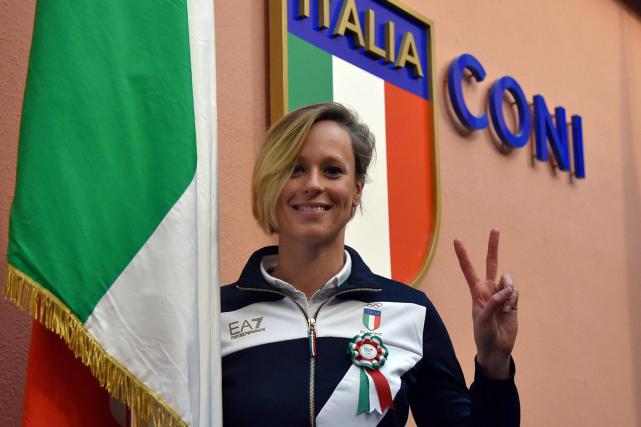 La nageuse italienne Federica Pellegrini... (Photo Ettore Ferrari, AP)