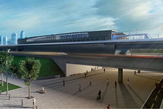 Une maquette pour une station de l'ambitieux projet... (PHOTO TIRÉE DU COMMUNIQUÉ DE PRESSE)