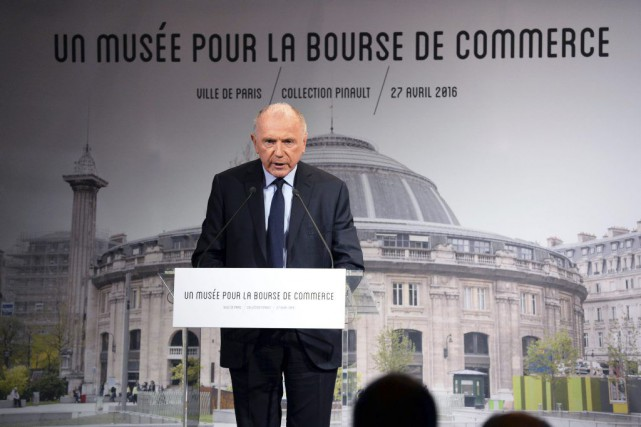 François Pinault a dévoilé en conférence de presse... (PHOTO AFP)