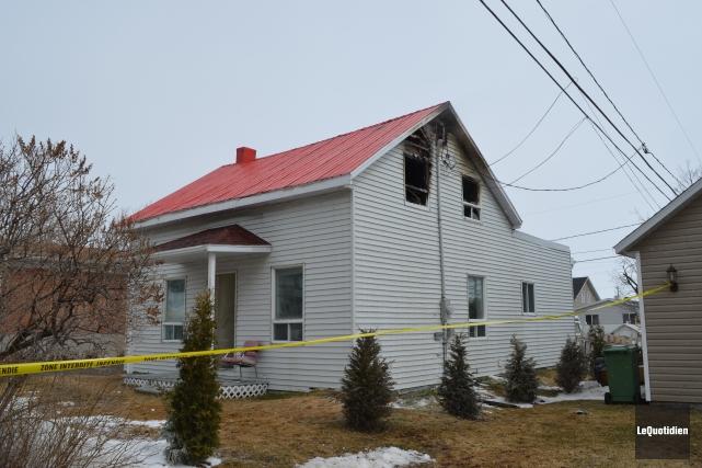 Un incendie a causé des dommages importants à... ((Photo Le Quotidien Louis Potvin))