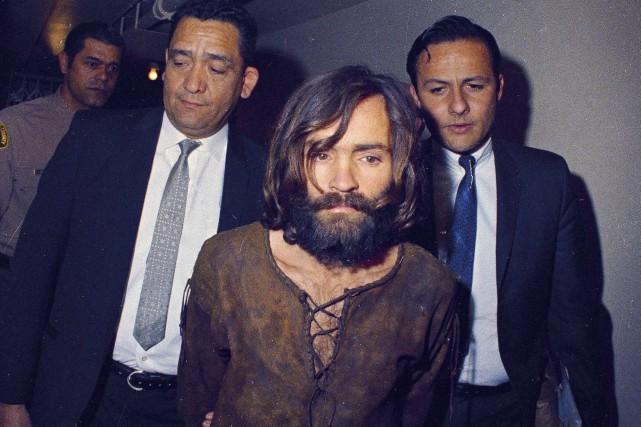 Charles Manson peu de temps après son arrestation... (Archives AP)