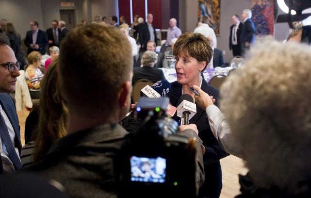 La députée de Compton-Stanstead et ministre du Développement... (Spectre Média, Jessica Garneau)