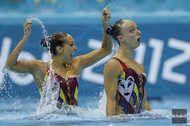 Marie-Pier Boudreau-Gagnon (à droite) qui a participéaux Jeux... (Photothèque Le Soleil)