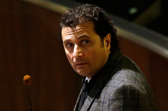 Francesco Schettino, l'ancien commandant du Costa Concordia, photographié en... (Photo Gregorio Borgia, archives AP)