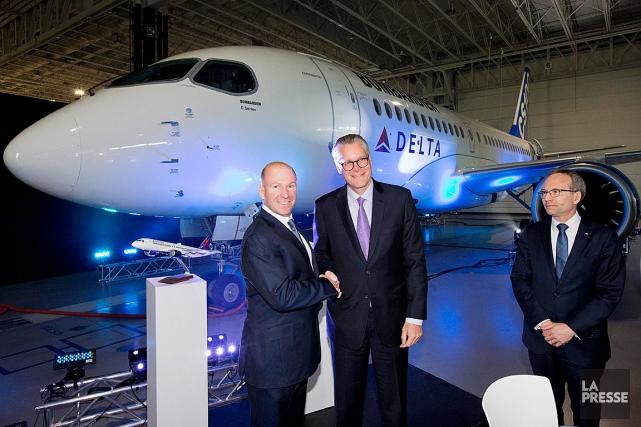 Alain Bellemare, PDG de Bombardier, Ed Bastian, le... (PHOTO ALAIN ROBERGE, ARCHIVES LA PRESSE)