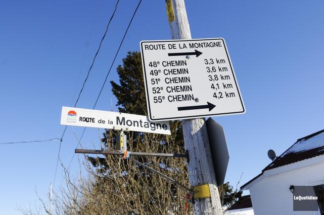 La saga entourant la route de la Montagne... ((Archives Le Quotidien))