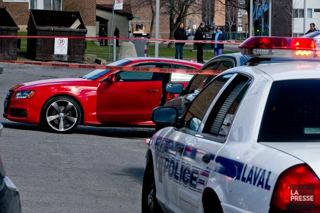 Ce matin, les policiers ont appris que le... (PHOTO DAVID BOILY, LA PRESSE)