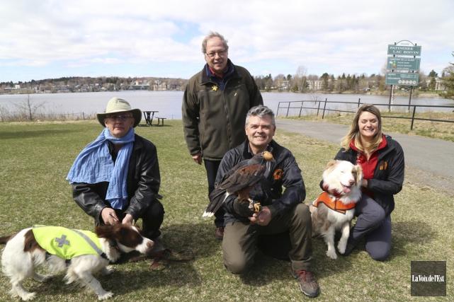 L'équipe de GPF Gestion de la faune: Thierry... (Janick Marois, La Voix de l'Est)