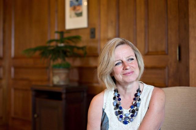 La première ministre de l'Alberta Rachel Notley, le... (Photo Jason Franson, PC)