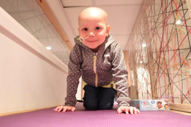 La petite Maélie souffre de leucémie.... (Photo courtoisie, Jim & Jane Productions)