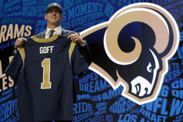 Le quart Jared Goff... (Associated Press)