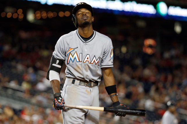 Dee Gordon, des Marlins de Miami, a échoué un... (Photo Alex Brandon, archives AP)