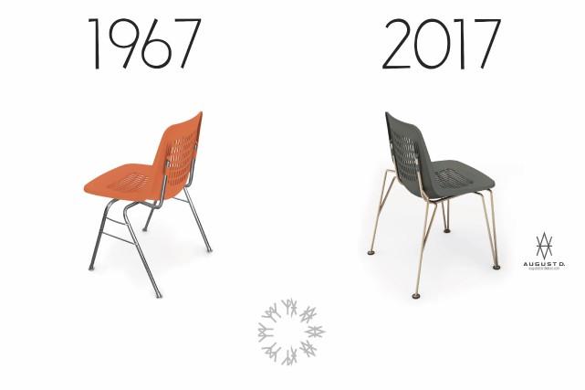 Les fameuses chaises empilables de la fin des... (Photo fournie par la boutique Léo Victor)