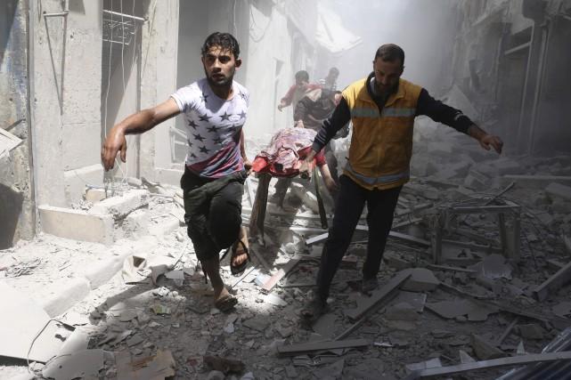 Pour la seconde fois en trois jours, un... (AFP, Ameer Alhalbi)