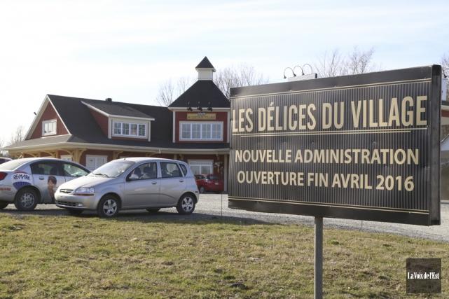 Le restaurant Les Délices du village sera le... (Janick Marois, La Voix de l'Est)