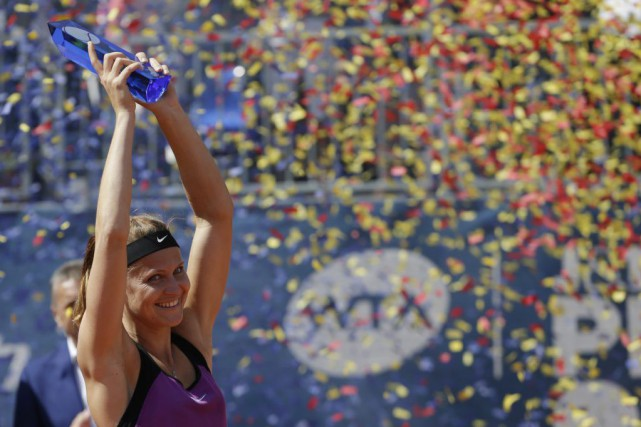 Lucie Safarova a récolté leseptième titre de sa... (PHOTO PETR DAVID JOSEK, AP)