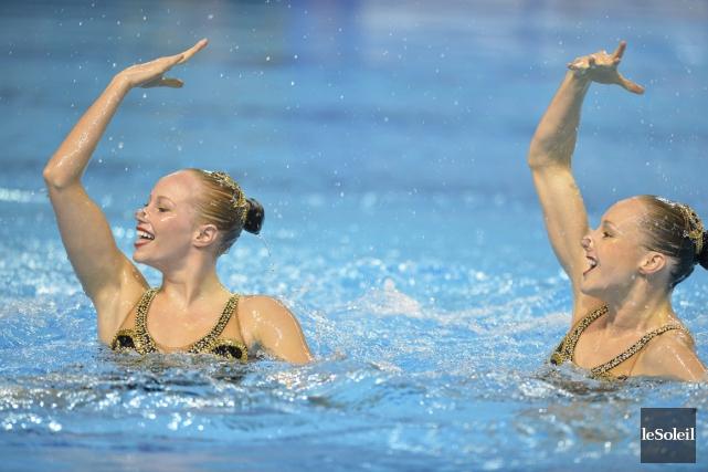 Les Québécoises Jacqueline Simoneau et Karine Thomas sont provisoirement... (Photo archives Le Soleil)