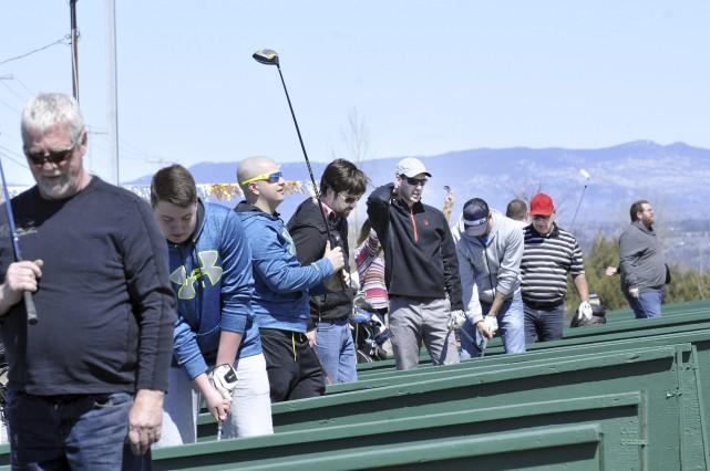 Comme à chaque printemps, les golfeurs ont été... (Photo Le Progrès-dimanche, Rocket Lavoie)