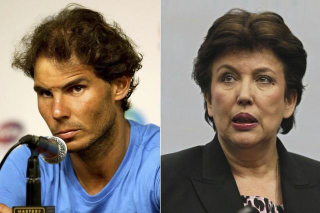Rafael Nadal etl'ancienne ministre française des SportsRoselyne Bachelot... (PHOTOS ARCHIVES AFP ET GETTY IMAGES)