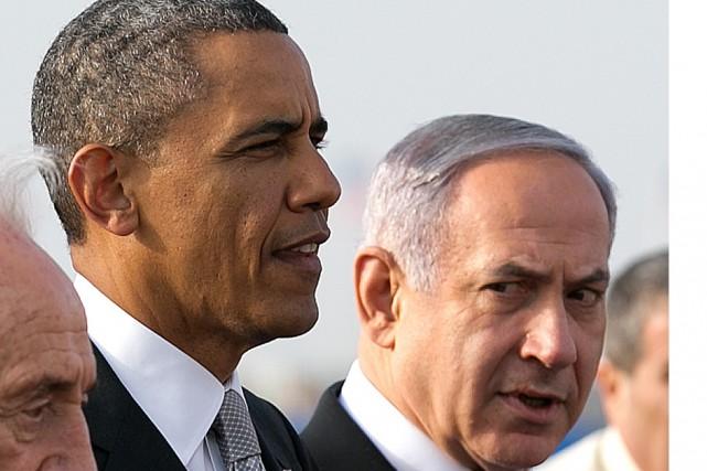 L'actuel premier ministre israélien, Benyamin Nétanyahou (à droite),... (Archives New York Times)