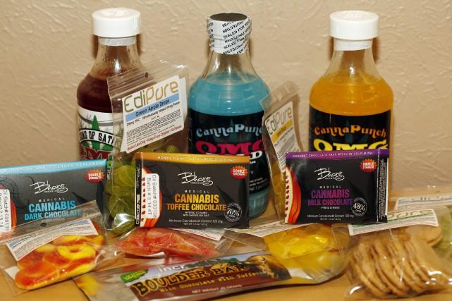 Divers produits comestibles et friandises contenant de la... (Agence France-Presse)