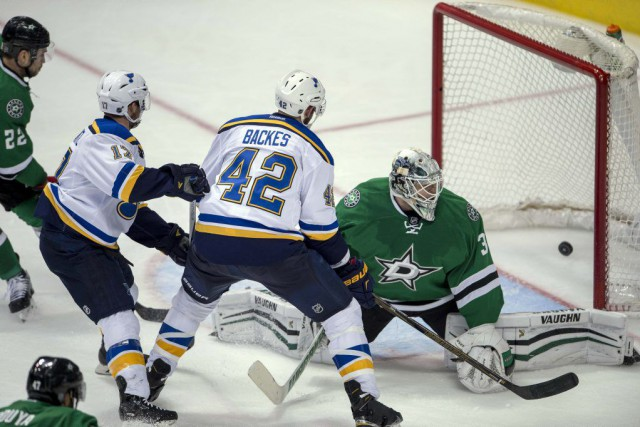 David Backes a offert un gros cadeau aux Blues de St. Louis lors de son 32e... (Photo USA Today Sports)