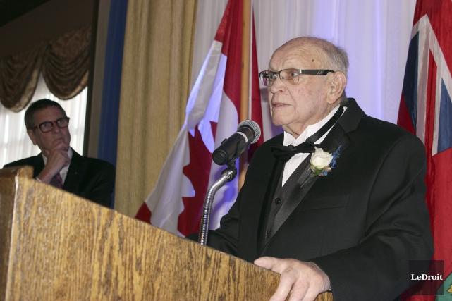 Le président d'honneur, Maurice Tessier, est un membre... (Martin Brunette, LeDroit)