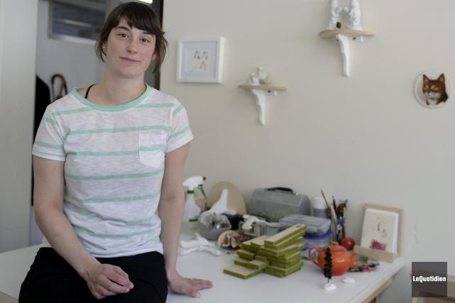 Magali Baribeau-Marchand pourra travailler gratuitement aux Ateliers TouTTout,... (Photo Le Quotidien, Jeannot Lévesque)