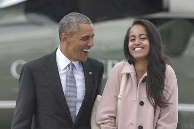 Malia Obama, âgée de 17 ans, prendra une... (PHOTO MANDEL NGAN, ARCHIVES AFP)