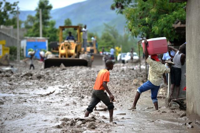Chaque année, de juin à novembre, Haïti est... (PHOTO HECTOR RETAMAL, ARCHIVES AFP)