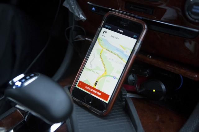 Des chauffeurs d'Uber viennent de lancer à New York une «association... (PHOTO AP)
