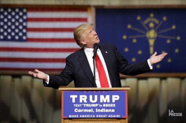 En Indiana, Donald Trump recueille 49 % des... (AP, Michael Conroy)