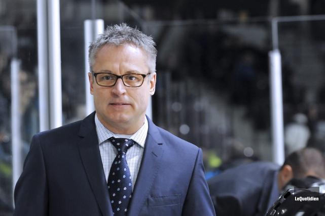 L'entraîneur-chef des Cataractes, Claude Bouchard... (Archives Le Quotidien)
