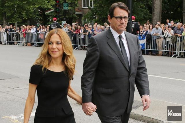 Julie Snyder et Pierre Karl Péladeau lors des... (La Presse)