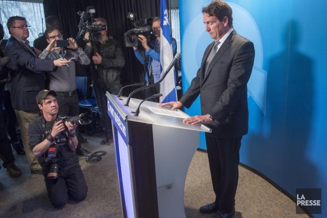 En larmes, Pierre Karl Péladeau a dit qu'il... (La Presse Canadienne, Ryan Remiorz)