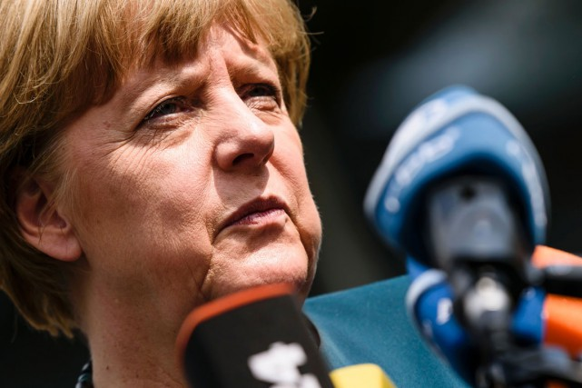 La chancelière Angela Merkel.... (PHOTO AFP)