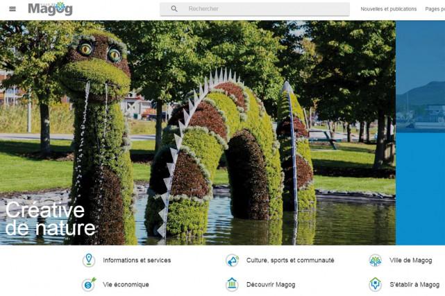 Le site internet de la Ville de Magog a subi une importante cure de... (Capture d'écran)