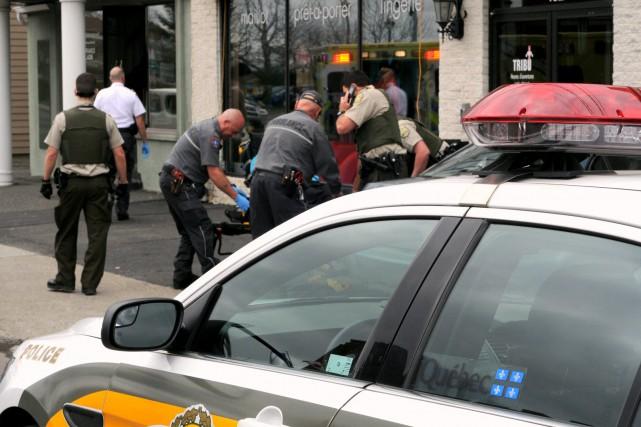 Les policiers de la SQ ont effectué une... (Photo collaboration spéciale, Éric Beaupré)