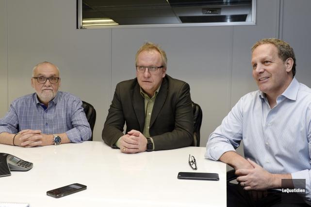 Richard Tremblay (vice-président exécutif), Claude Gosselin (vice-président et... (Photo Le Quotidien, Jeannot Lévesque)