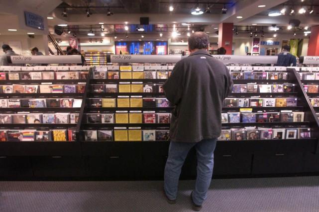 Les ventes de disques sont en chute libre... (Archives, La Presse)
