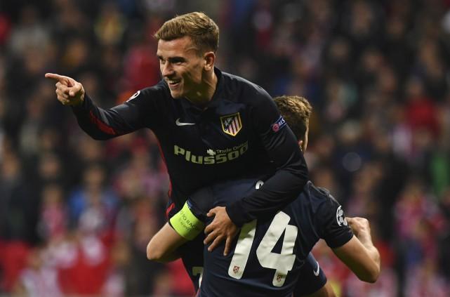 L'attaquant français de l'Atletico Madrid, Antoine Griezmann, a... (AFP, Lukas Barth)