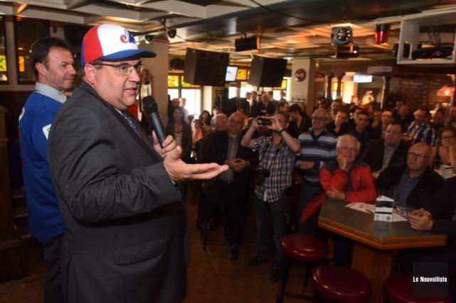 Le maire de Montréal Denis Coderre était l'invité... (François Gervais, Le Nouvelliste)