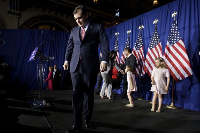 Ted Cruz quitte le devant de la scène.... (AP, Darron Cummings)